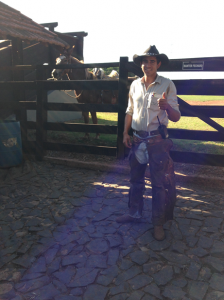 Brazilian Cowboys on Farm