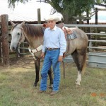 Man with horse on Ranch