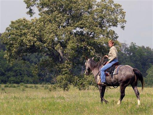 Texas Rancher Girl on Horseback