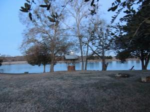 Early Morning Moon Over Lake - Texas Rancher Girl