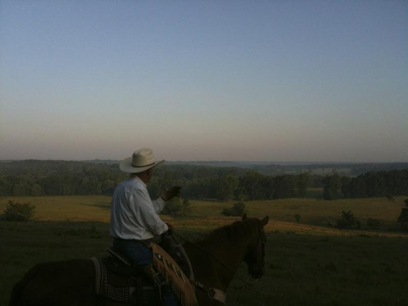 TRG - Rancher looking out at land