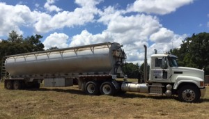 Feed truck on ranch
